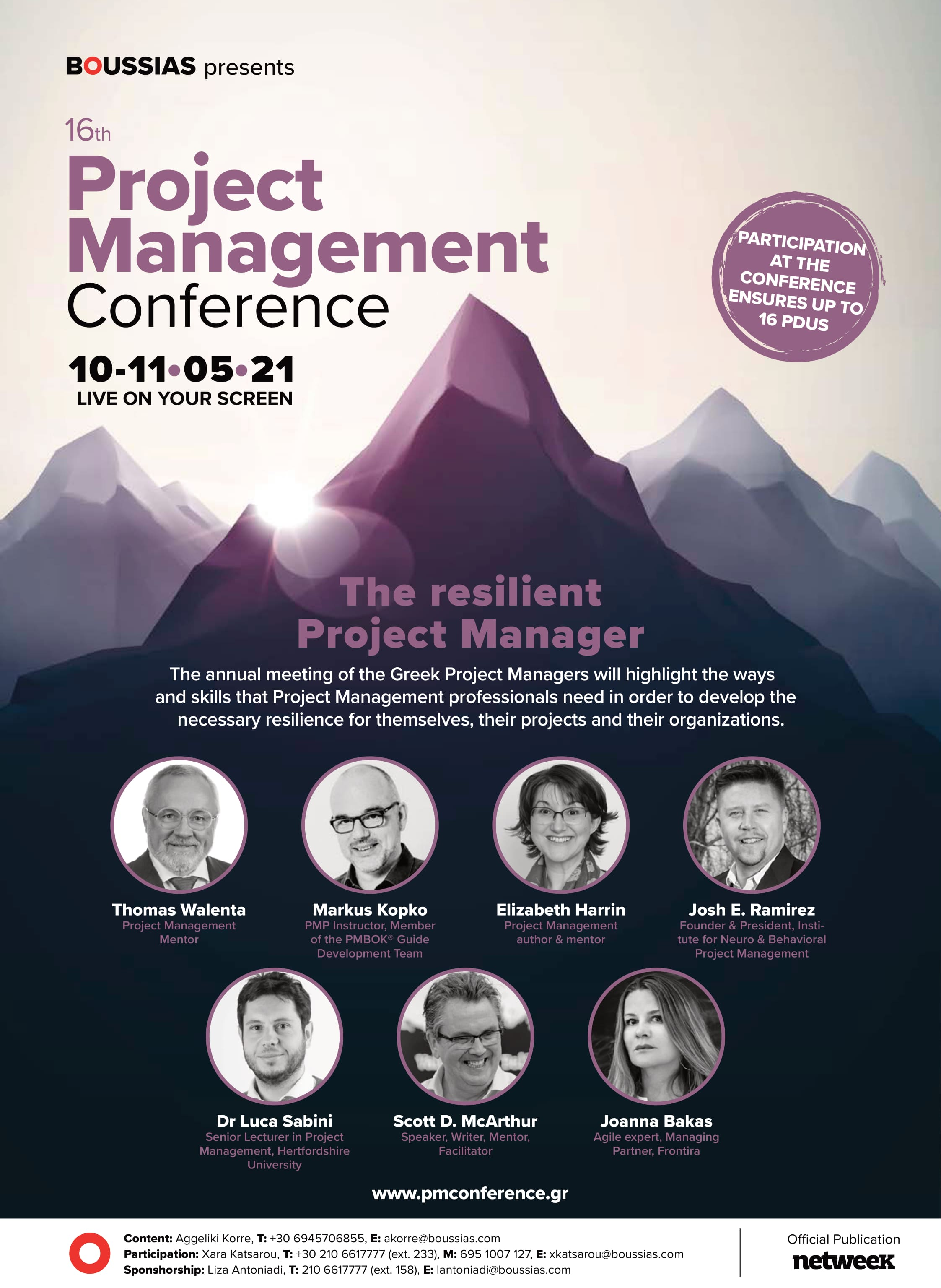16th Project Management 2021 19x26 Speakers min