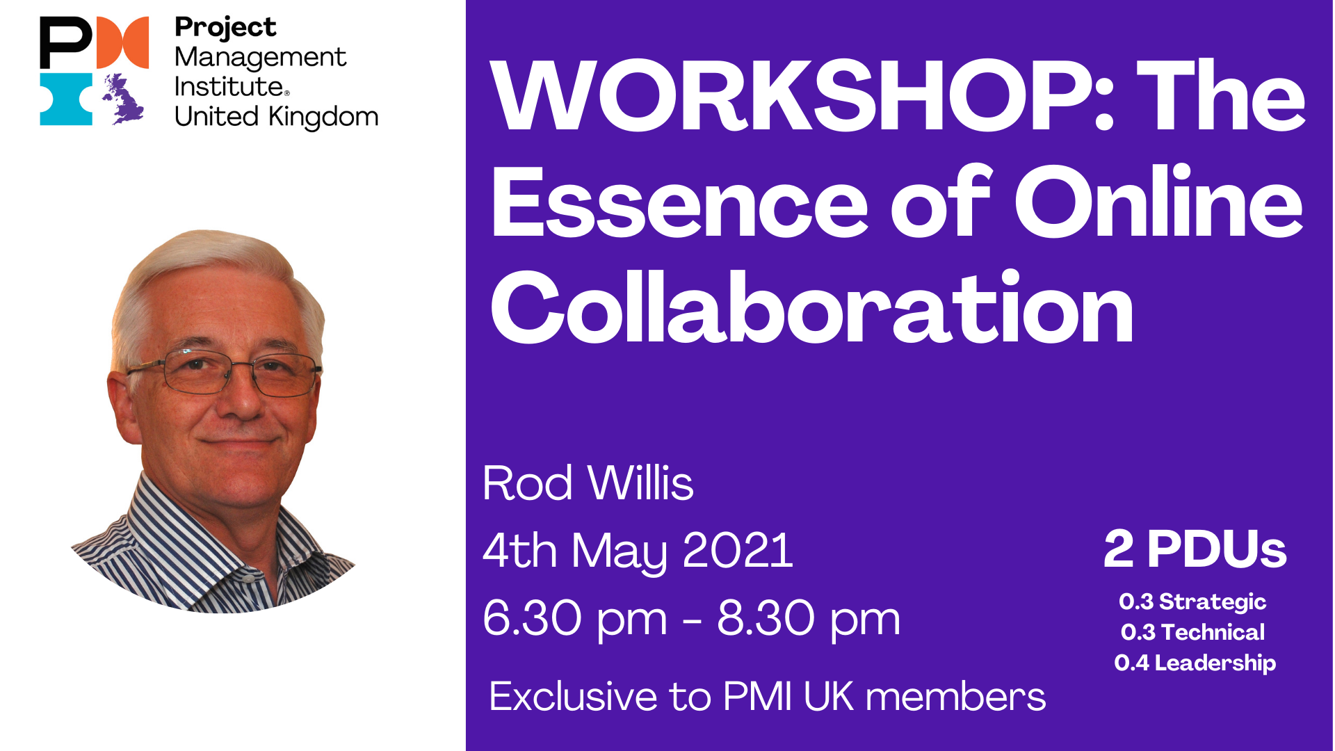 4th May PMI UK Workshops website 2