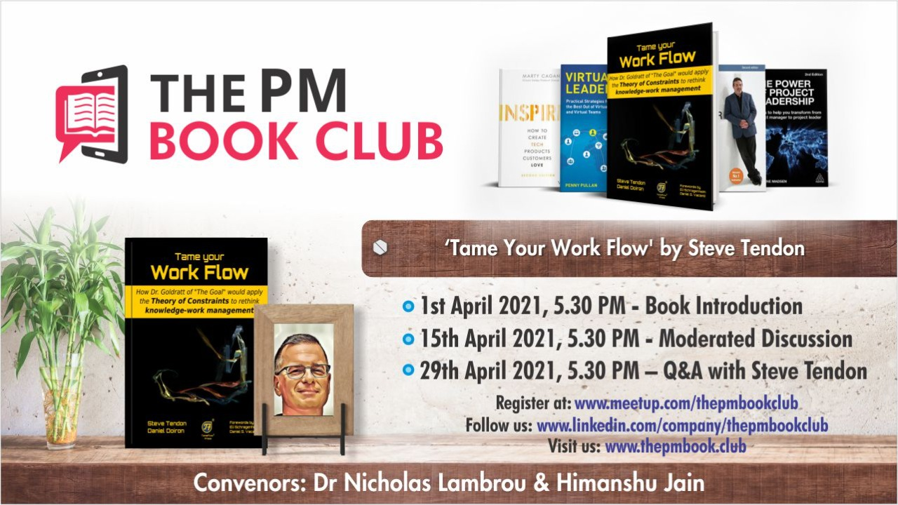 The PM Book Club Tame Your Work Flow April 2021